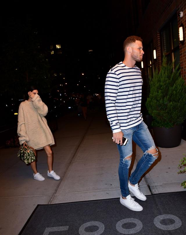 Kendall Jenner and Blake Griffin seen on the streets of Manhattan after dining at Carbone on September 11, 2017