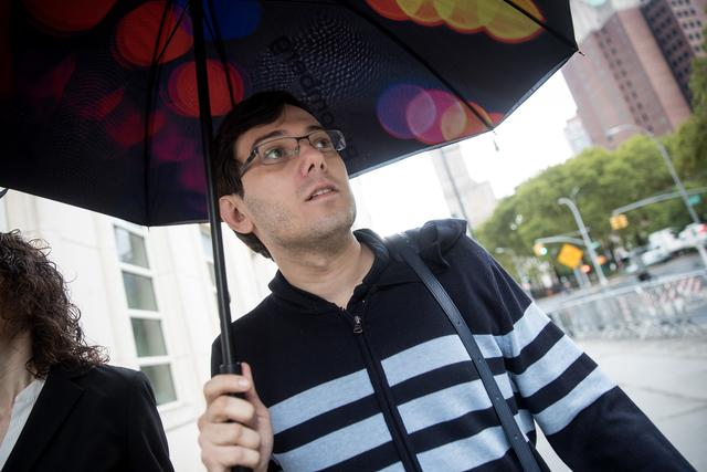 Martin Shkreli outside of court