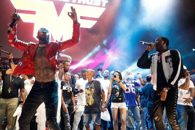 Meek Mill & Tory Lanez together performing