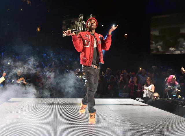 Meek Mill performing at TIDAL show