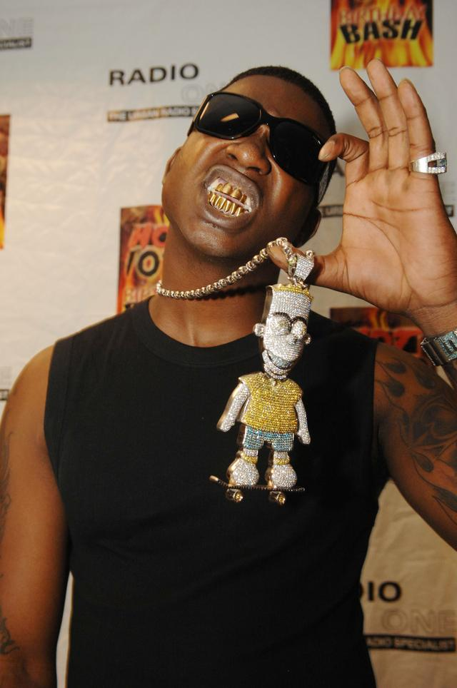 Gucci Mane shows his Bart Simpson chain