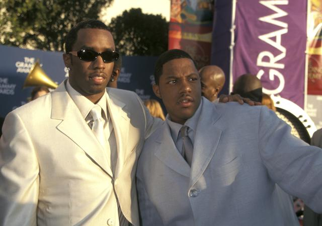 Mase & Diddy at the 41st Grammys