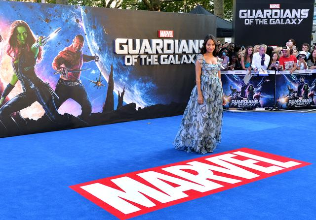 Zoe Saldana at Guardians of the Galaxy movie premiere