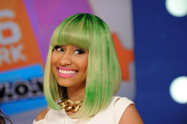 Nicki Minaj in a green wig