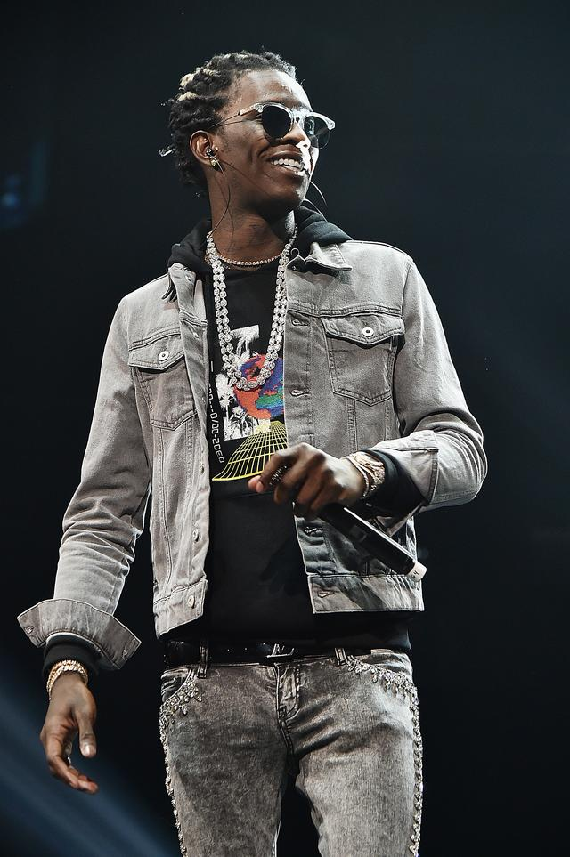 Young Thug smiling big