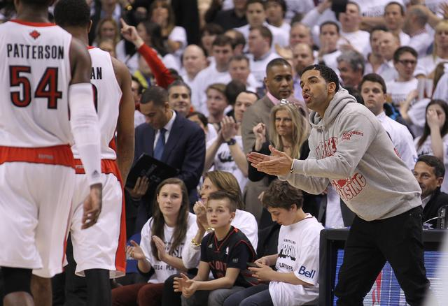 Drake at an NBA game