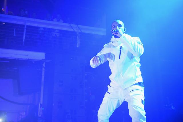 Drake performing at an Adult Swim event