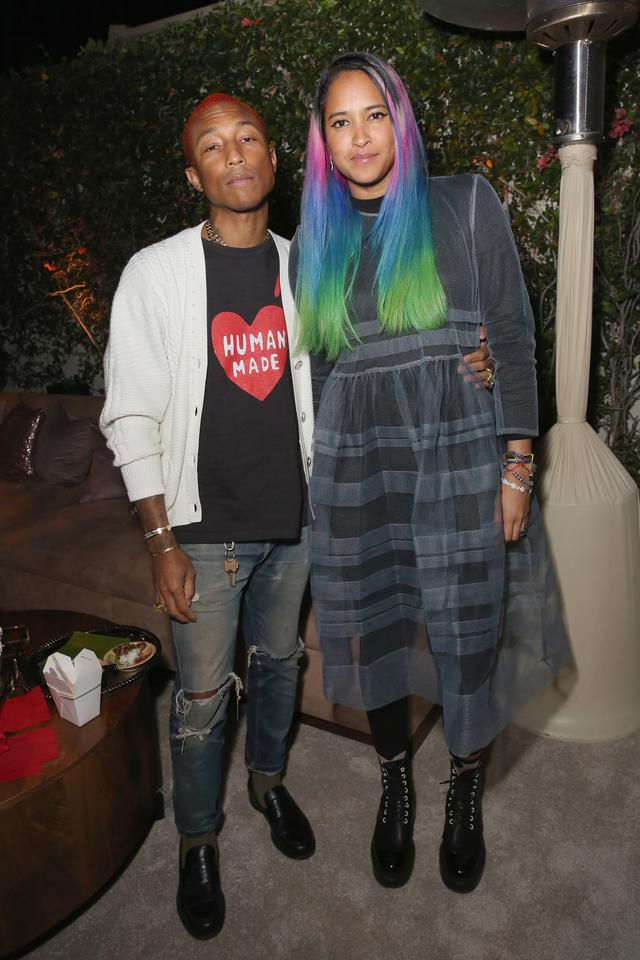 Pharrell and his wife Helen at a netflix hosted event