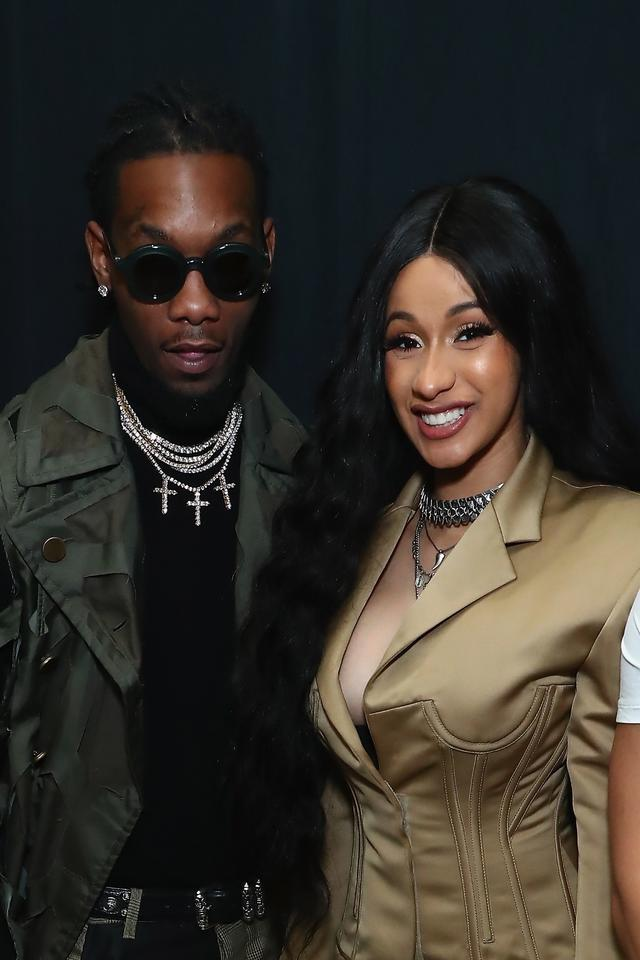 Cardi B and Offset together at NYFW 2018