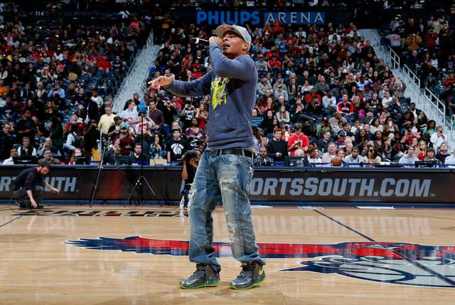 T.I. performing at halftime game