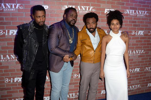 at the premiere for FX's 'Atlanta Robbin' Season'