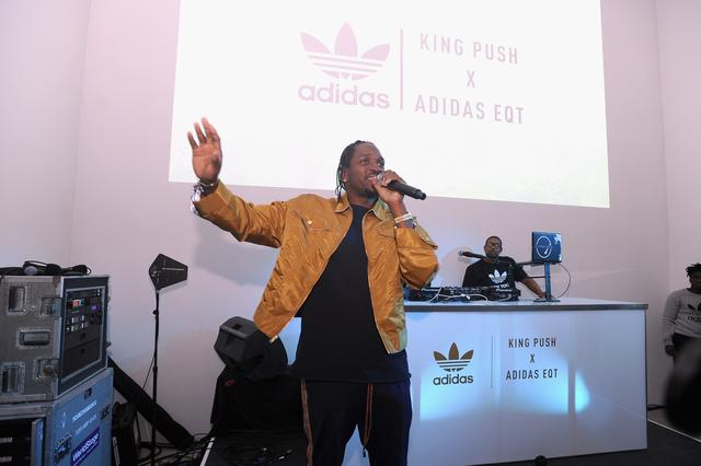 Pusha T at Adidas EQT launch