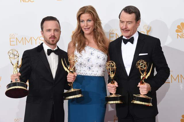 Breaking Bad actors w their Emmys