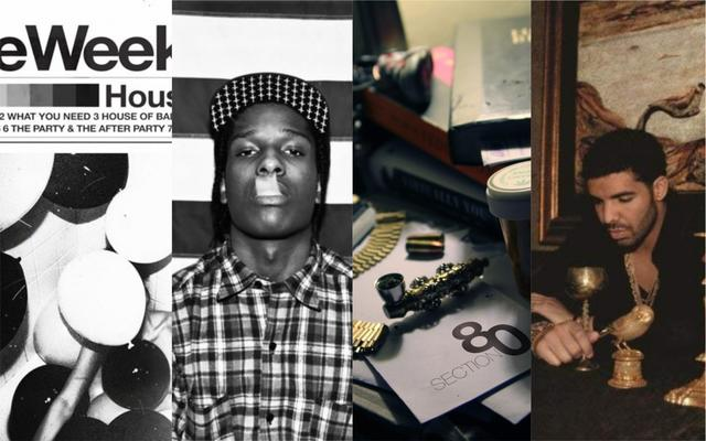"""The Weeknd """"House of Balloons,"""" A$AP Rocky """"LIVE.LOVE.A$AP,"""" Kendrick Lamar """"Section.80,"""" Drake """"Take Care"""""""