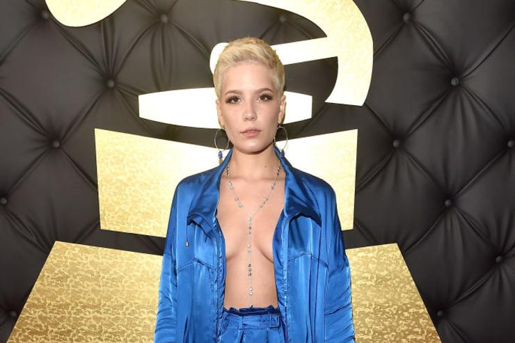 Singer Halsey attends The 59th GRAMMY Awards at STAPLES Center on February 12, 2017 in Los Angeles, California.
