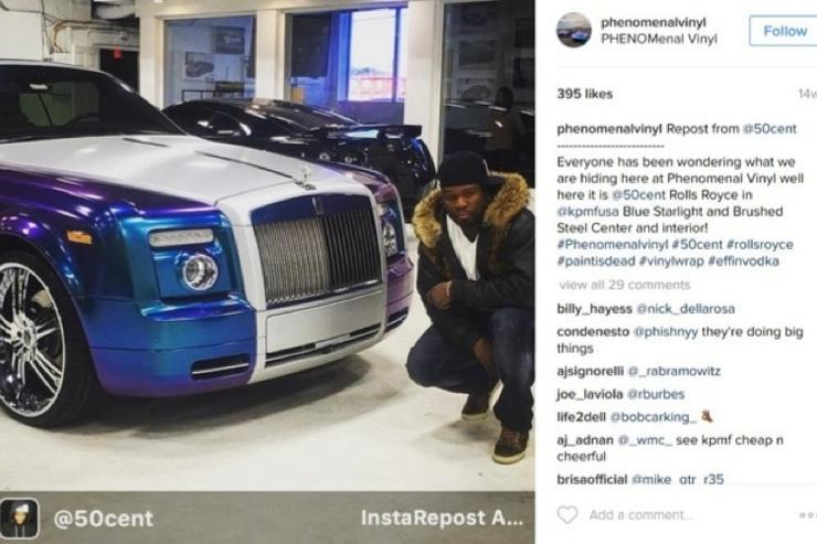 50 Cent's IG image being used