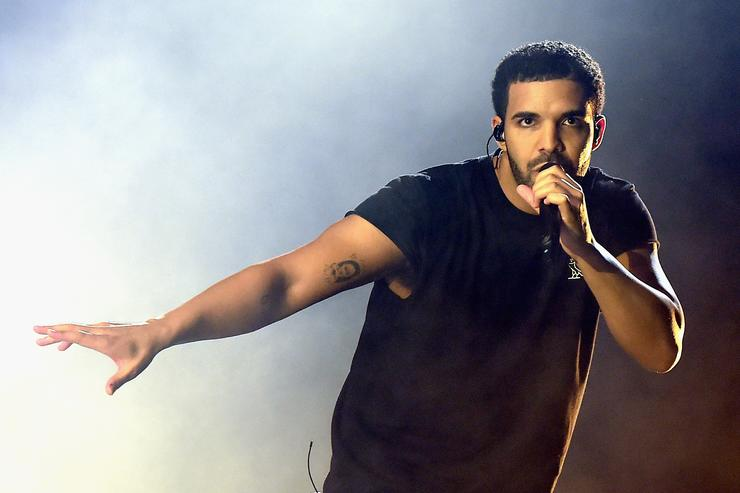 Rapper Drake performs onstage during day 3 of the 2015 Coachella Valley Music & Arts Festival (Weekend 1) at the Empire Polo Club on April 12, 2015 in Indio, California
